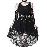 Gothic Kleid Damen Steampunk Kleid Chiffon Kleid Sommerkleid...