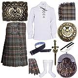 Highland Kilt Herren Schottisches Kilts Outfit Set verwittertes...