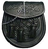 Tasche für Schottenrock mit keltischem Reliefmuster,...