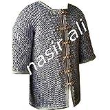 NASIR ALI Kettenhemd aus Aluminium, flach vernietet, Flat...