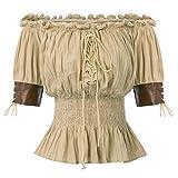 Viktorianische Gotische Renaissance Stretchy Blusen Shirts Top...