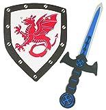 Das Kostümland Schaumstoff Ritter Set mit Drachen - Schwert und...
