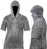 NASIR ALI Schönes konifiziertes Kettenhemd aus Aluminium, 10-15...